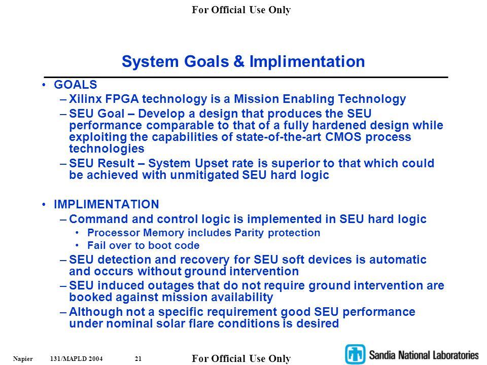 System Goals & Implimentation