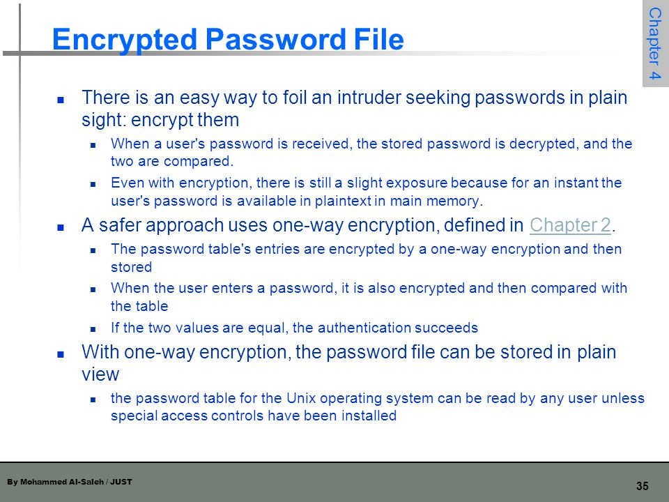 Encrypted Password File