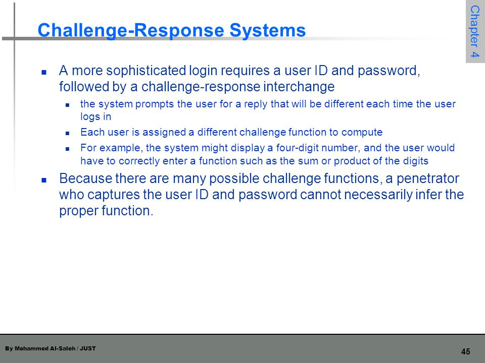 Challenge-Response Systems