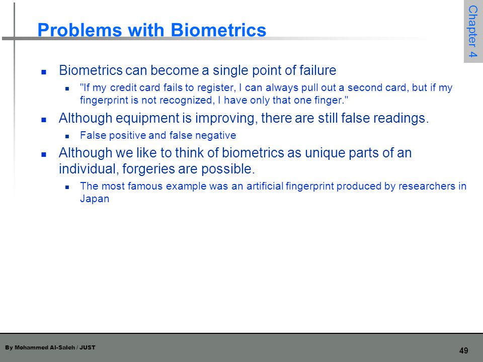 Problems with Biometrics
