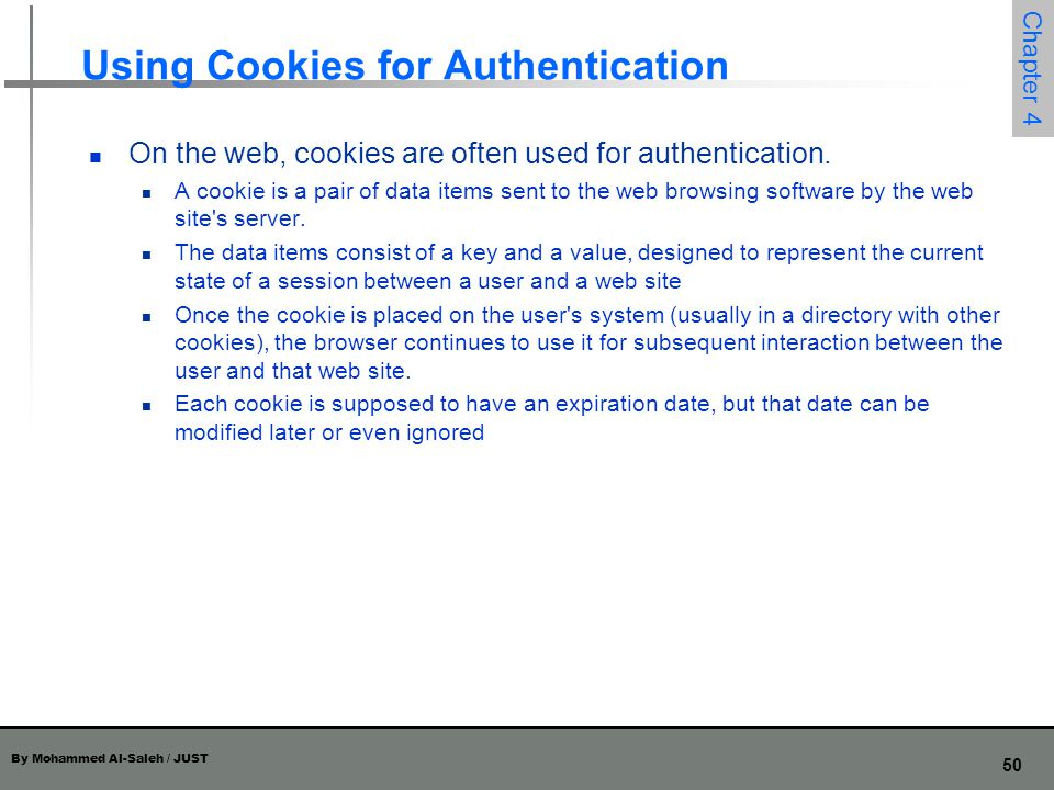 Using Cookies for Authentication
