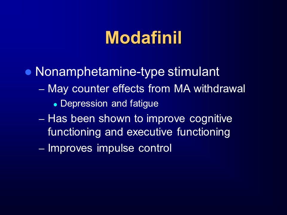 Modafinil Nonamphetamine-type stimulant