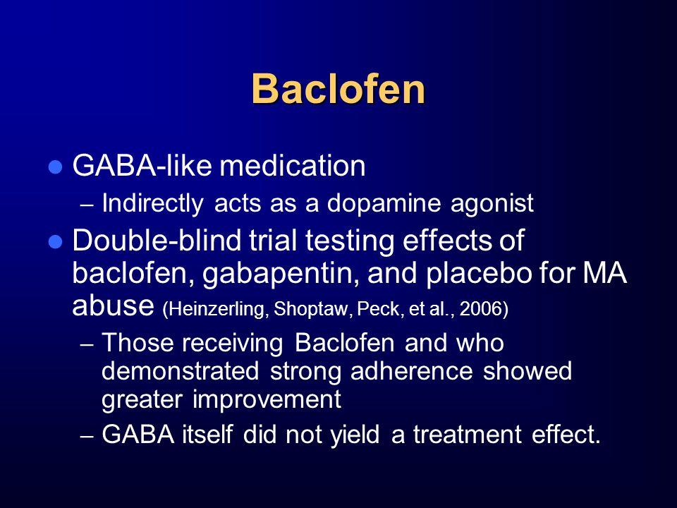 Baclofen GABA-like medication