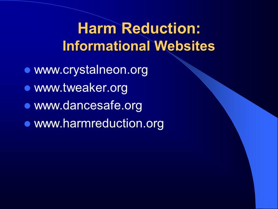 Harm Reduction: Informational Websites