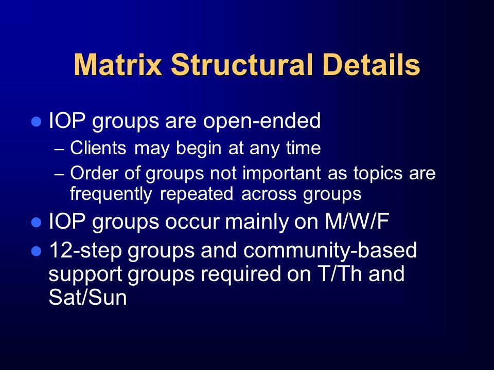 Matrix Structural Details