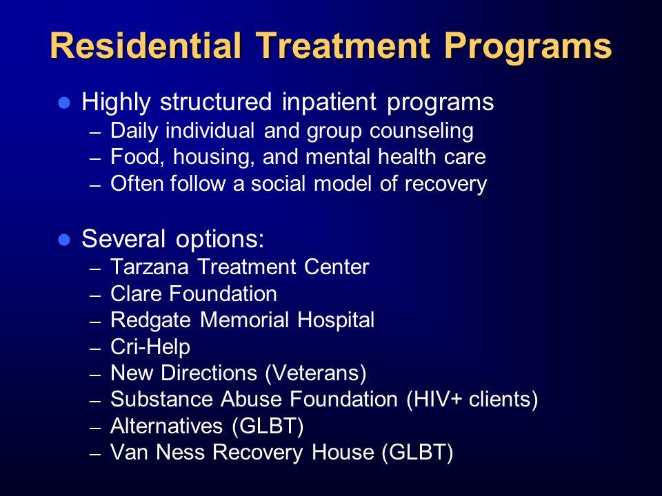 Residential Treatment Programs