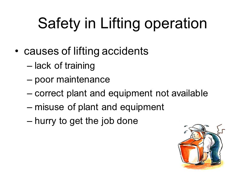 Safety in Lifting operation