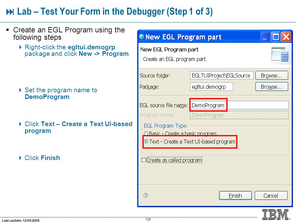  Lab – Test Your Form in the Debugger (Step 1 of 3)