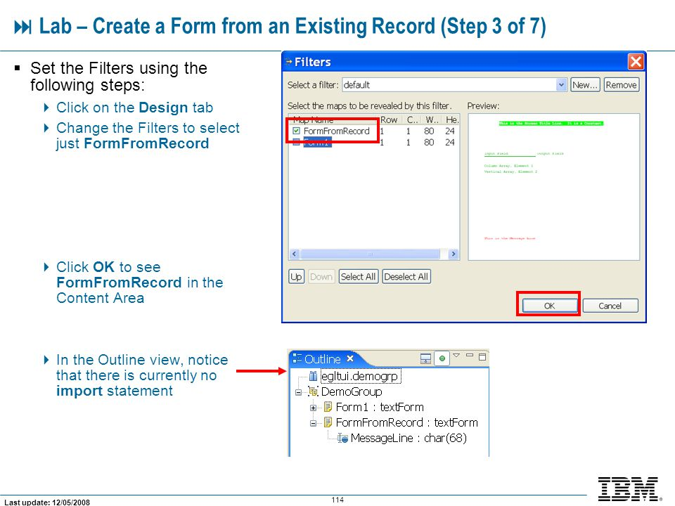  Lab – Create a Form from an Existing Record (Step 3 of 7)