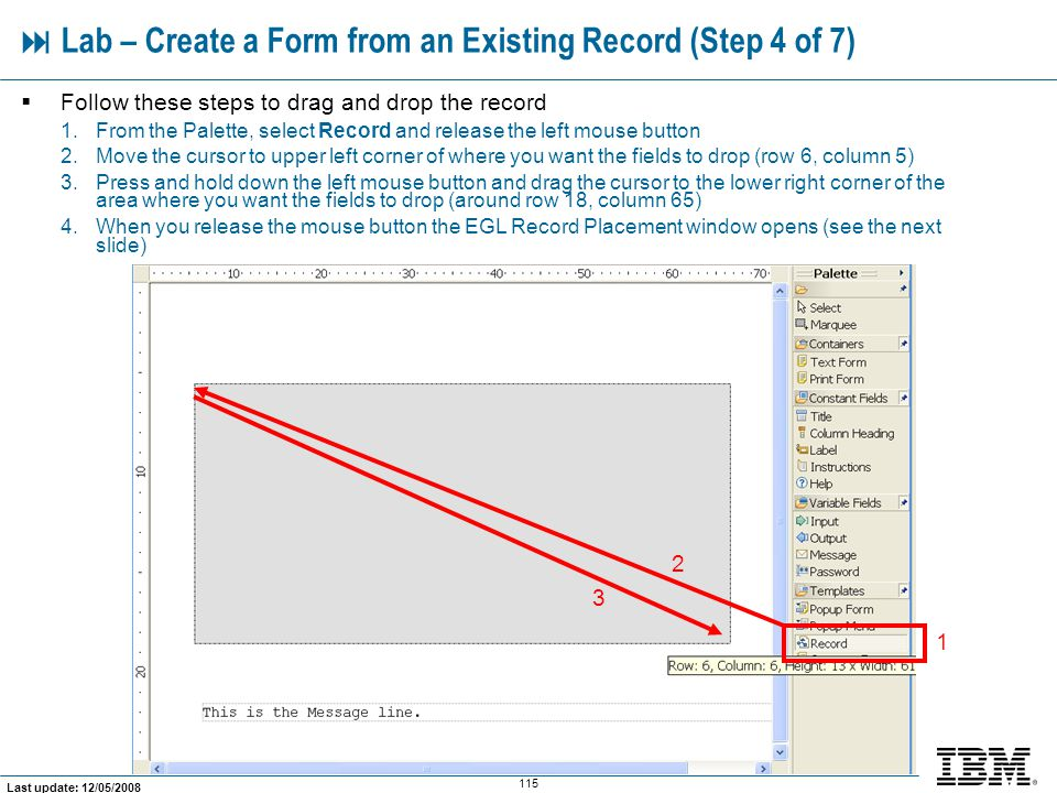  Lab – Create a Form from an Existing Record (Step 4 of 7)