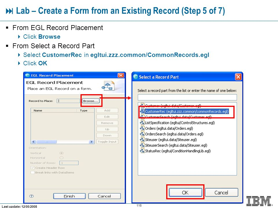  Lab – Create a Form from an Existing Record (Step 5 of 7)