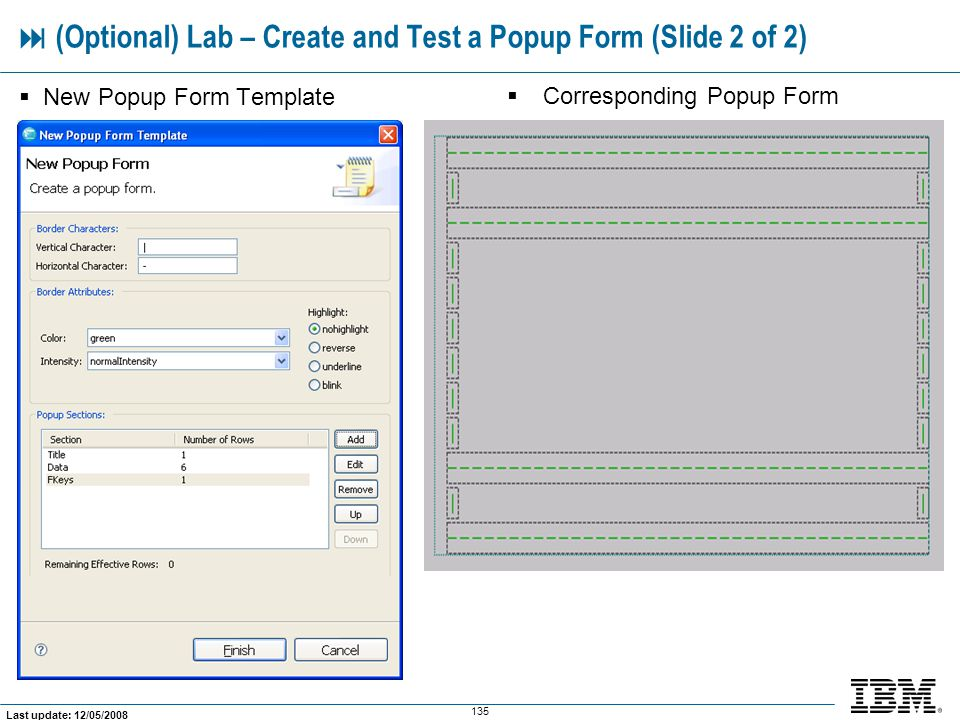  (Optional) Lab – Create and Test a Popup Form (Slide 2 of 2)