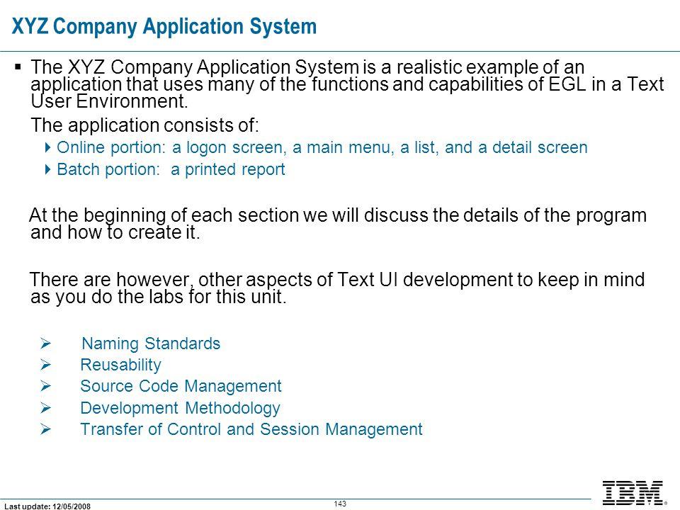 XYZ Company Application System