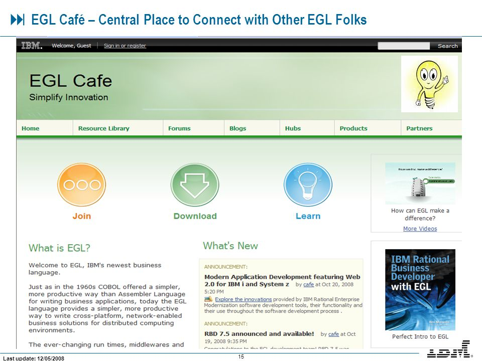  EGL Café – Central Place to Connect with Other EGL Folks