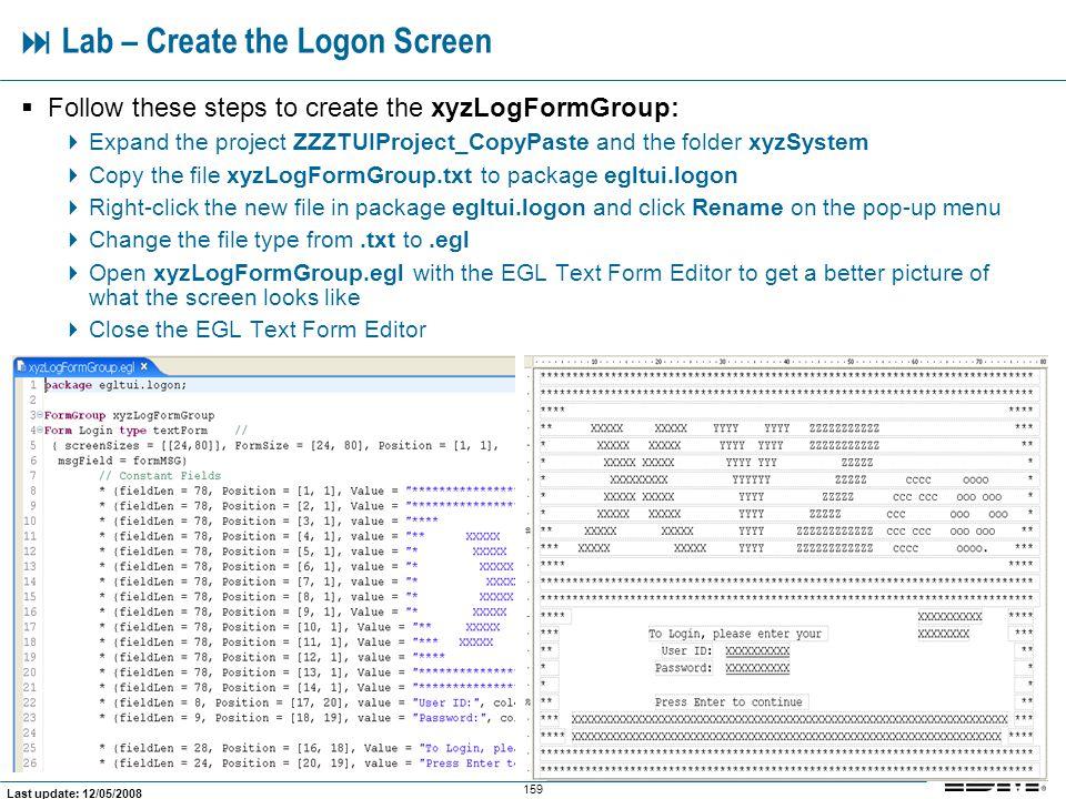  Lab – Create the Logon Screen