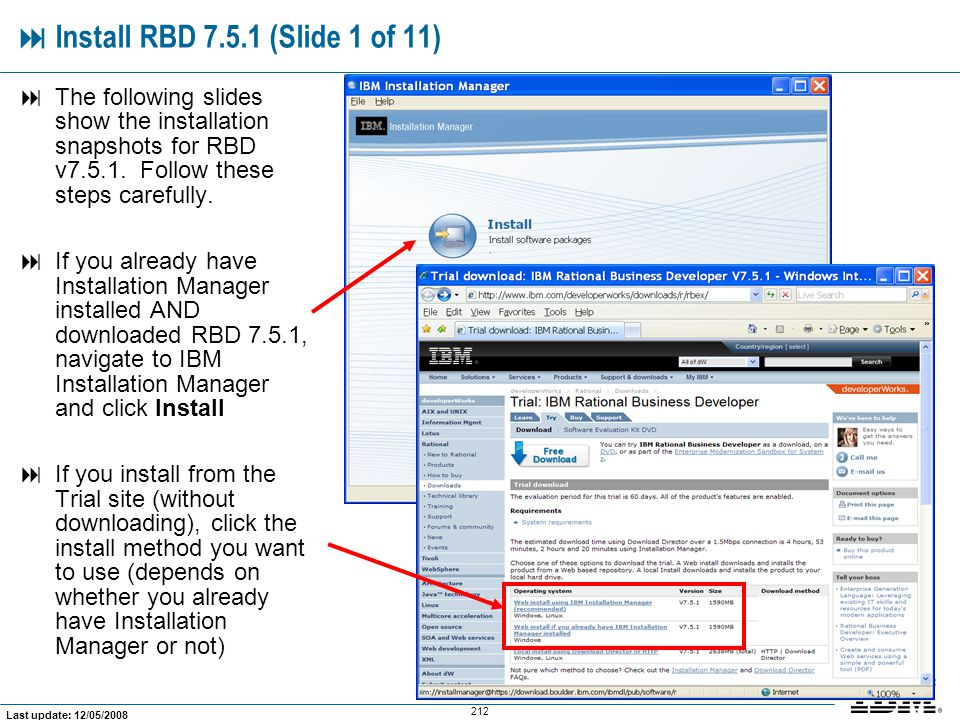  Install RBD 7.5.1 (Slide 1 of 11)