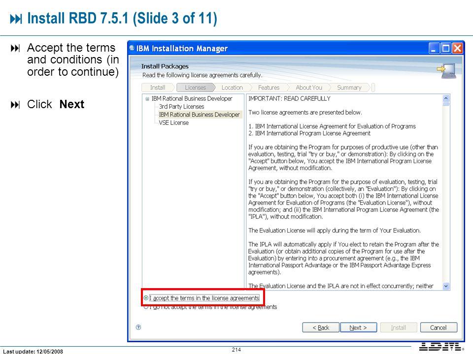  Install RBD 7.5.1 (Slide 3 of 11)