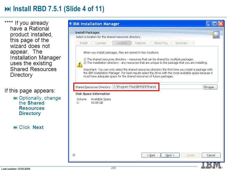  Install RBD 7.5.1 (Slide 4 of 11)