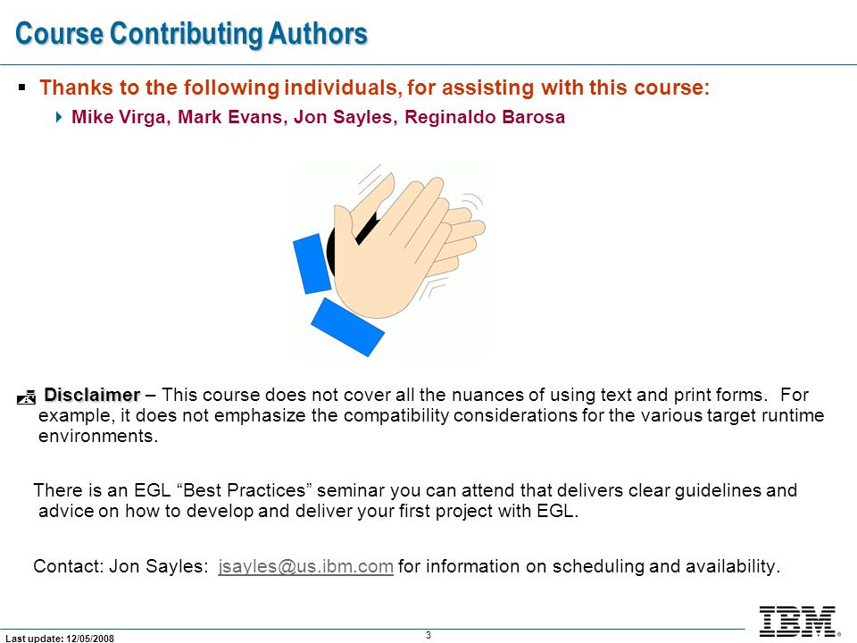 Course Contributing Authors