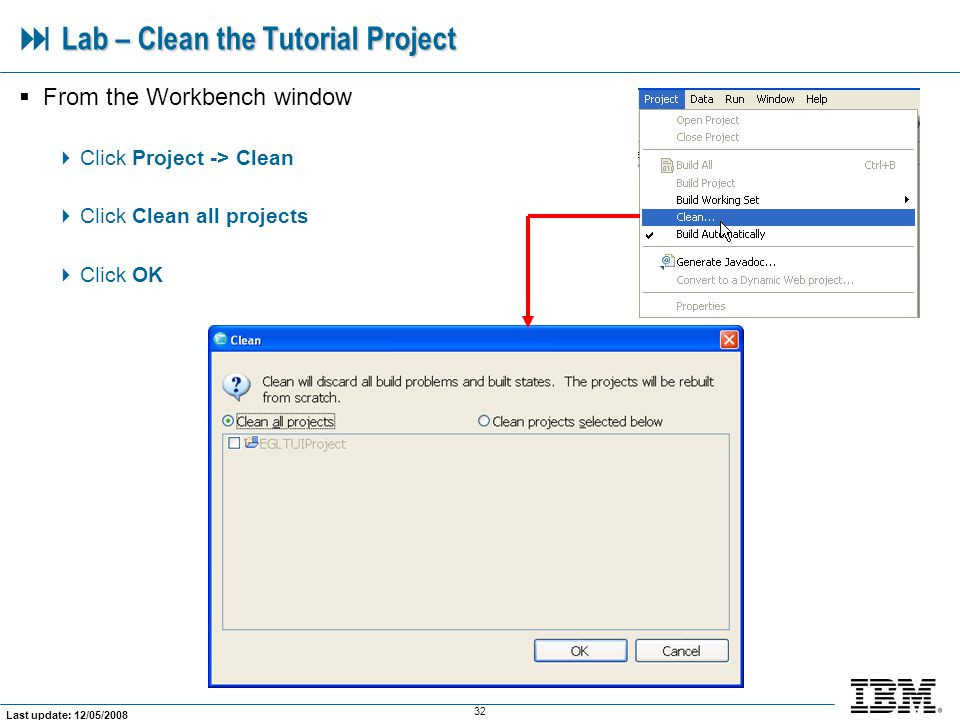  Lab – Clean the Tutorial Project