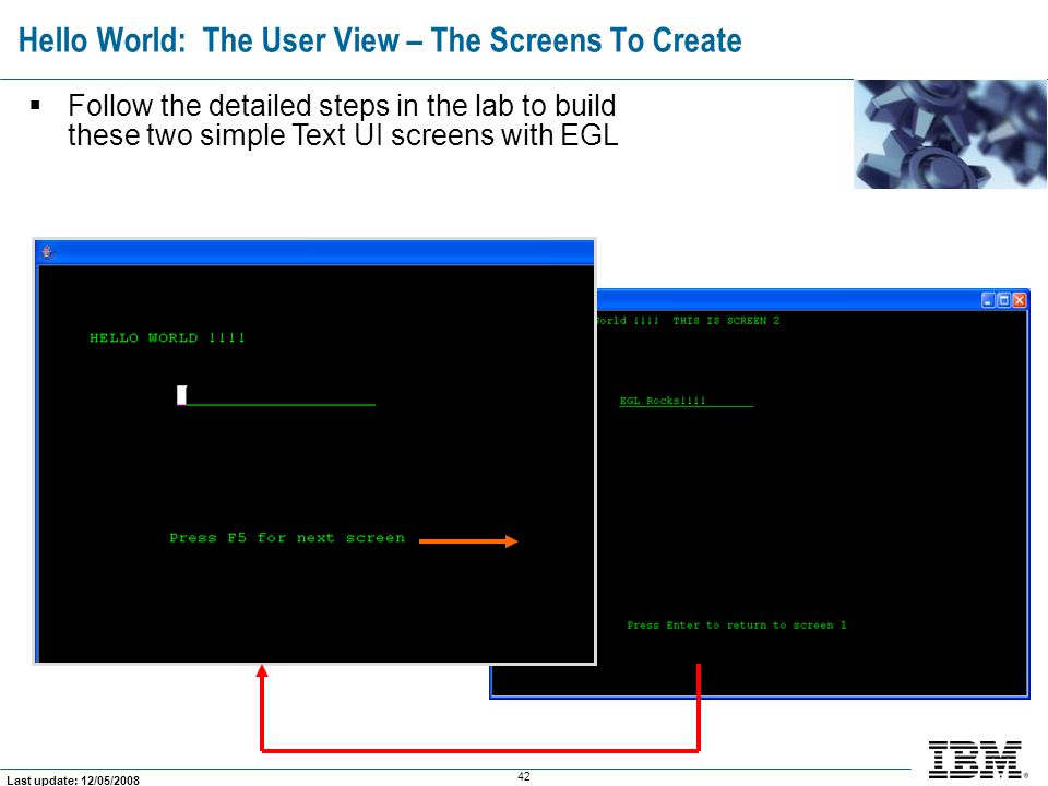 Hello World: The User View – The Screens To Create