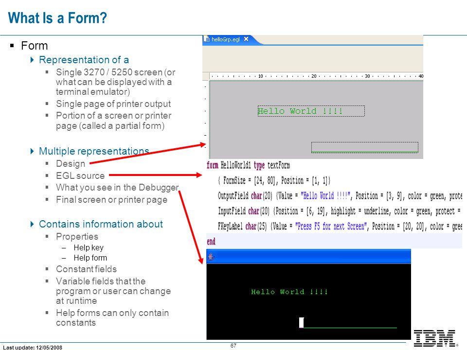 Rational Business Developer - Text User Interface