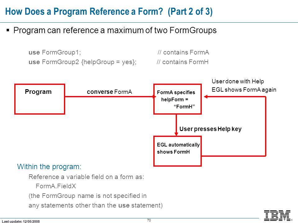 How Does a Program Reference a Form (Part 2 of 3)
