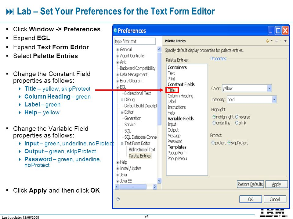  Lab – Set Your Preferences for the Text Form Editor