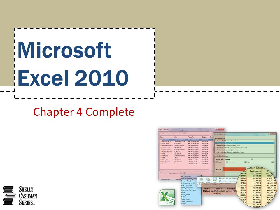 Microsoft Excel 2010 Chapter 4 Complete