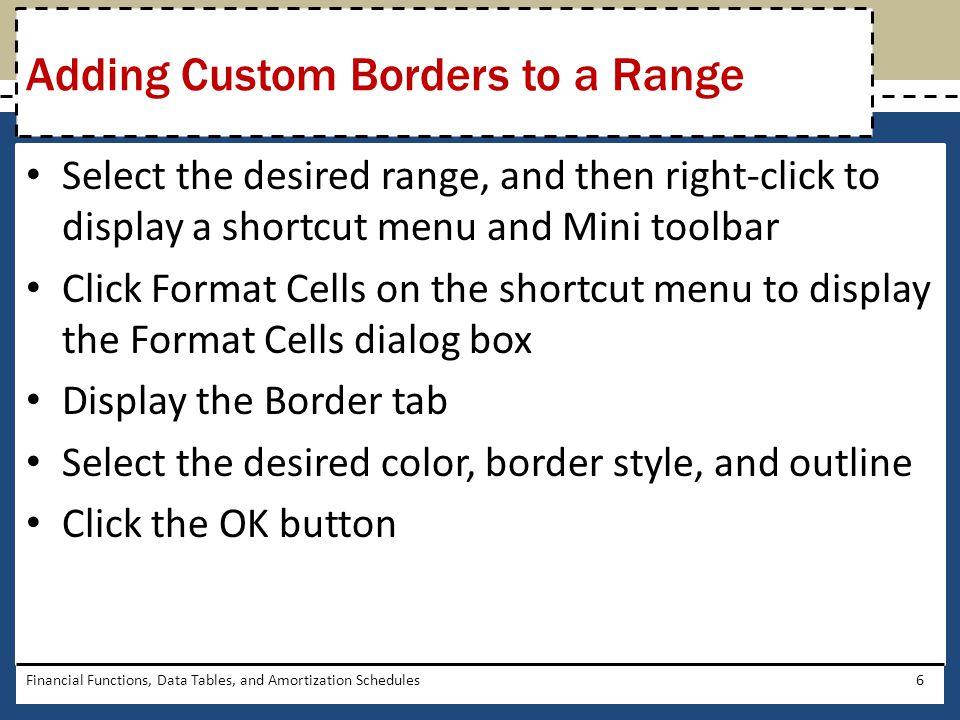 Adding Custom Borders to a Range