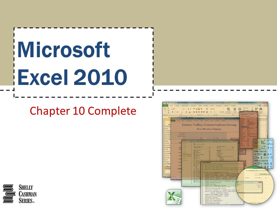 Microsoft Excel 2010 Chapter 10 Complete