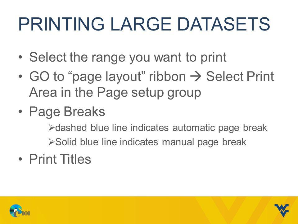 Printing large datasets