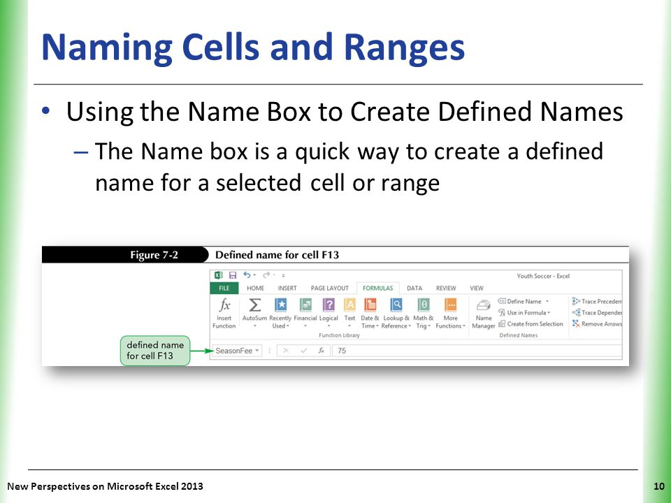 Naming Cells and Ranges