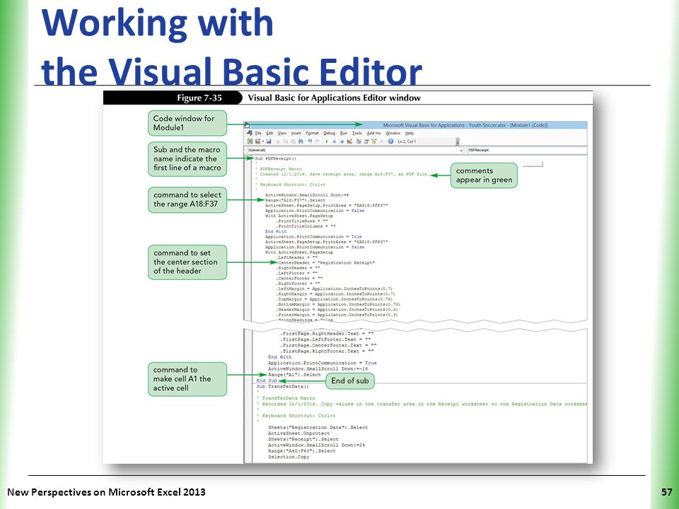 Working with the Visual Basic Editor