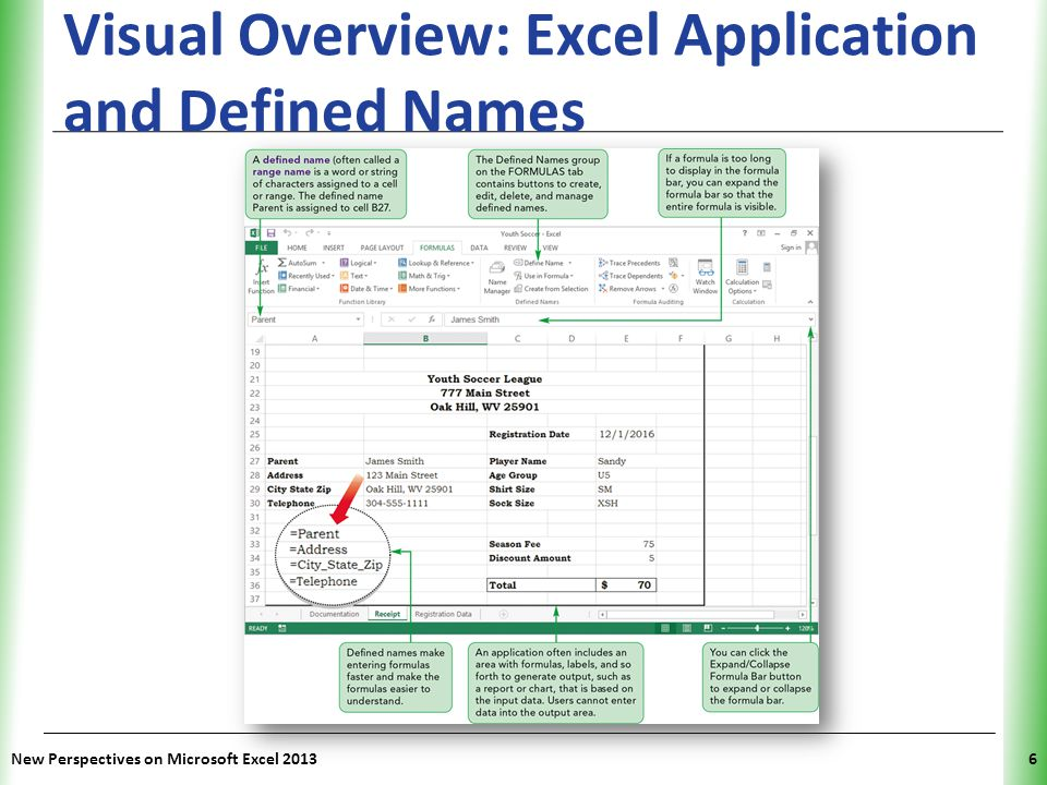 Visual Overview: Excel Application and Defined Names
