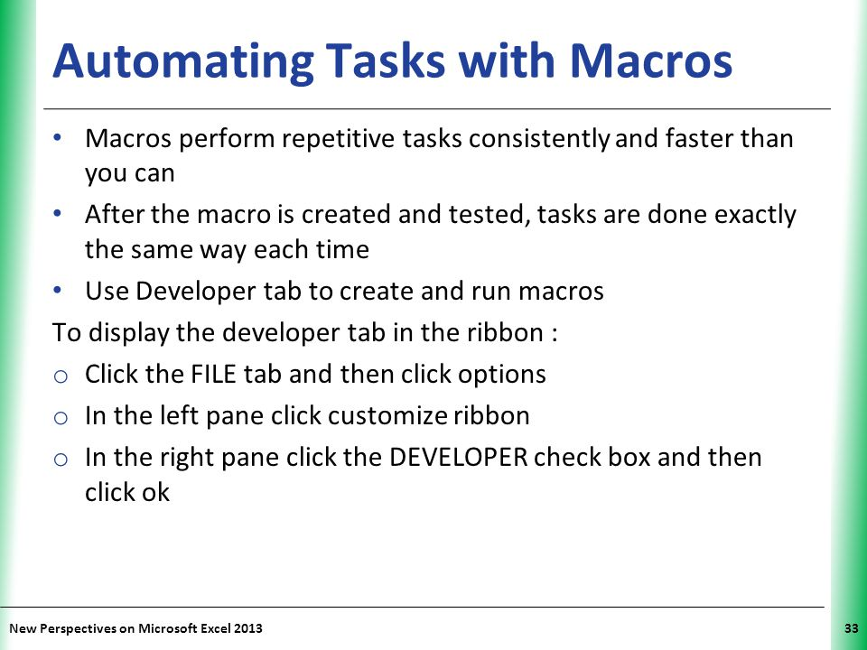 Automating Tasks with Macros
