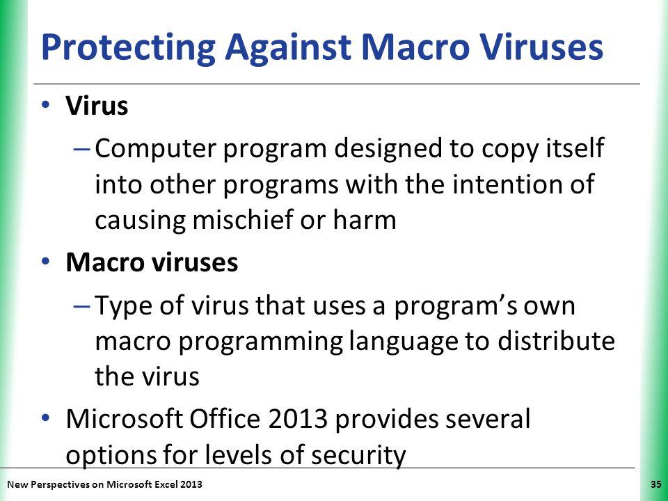 Protecting Against Macro Viruses