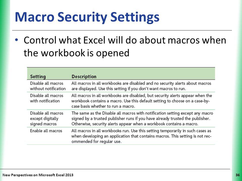 Macro Security Settings