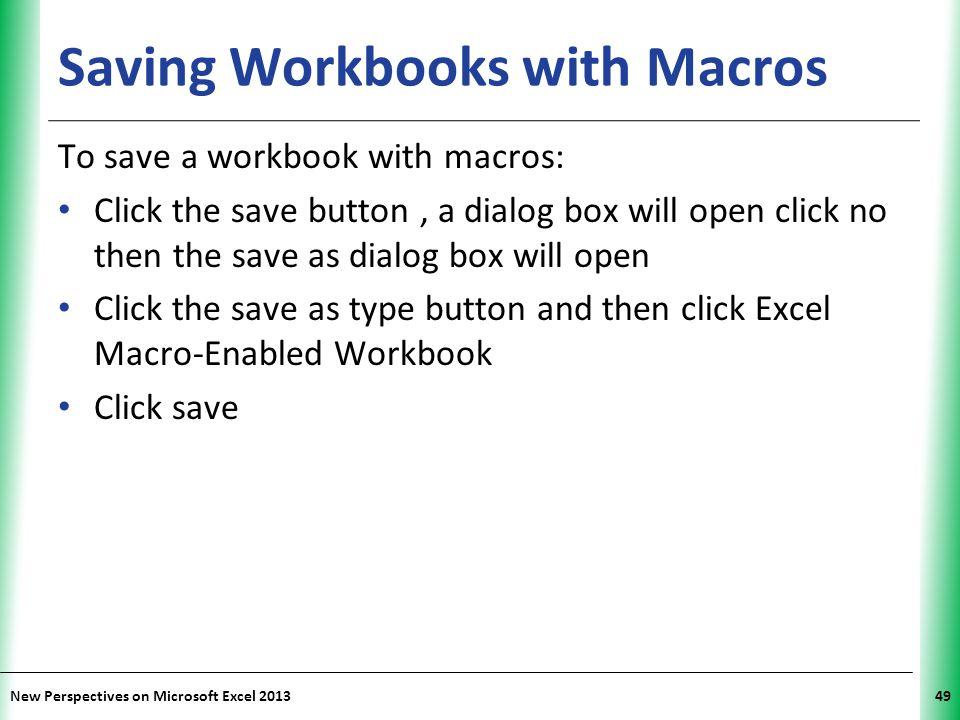 Saving Workbooks with Macros