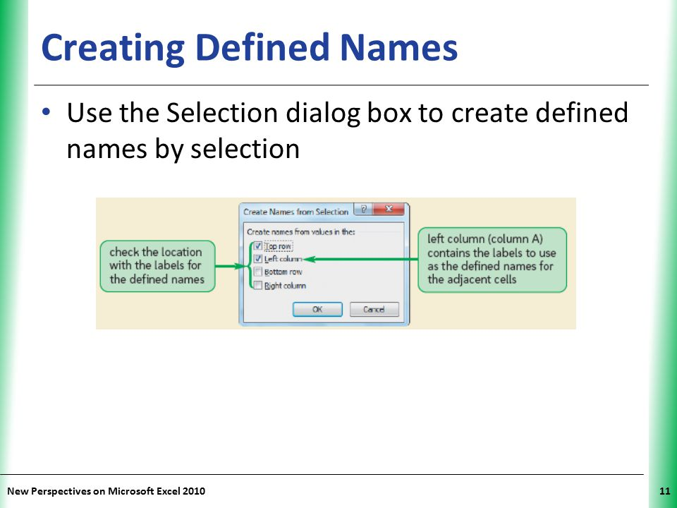 Creating Defined Names