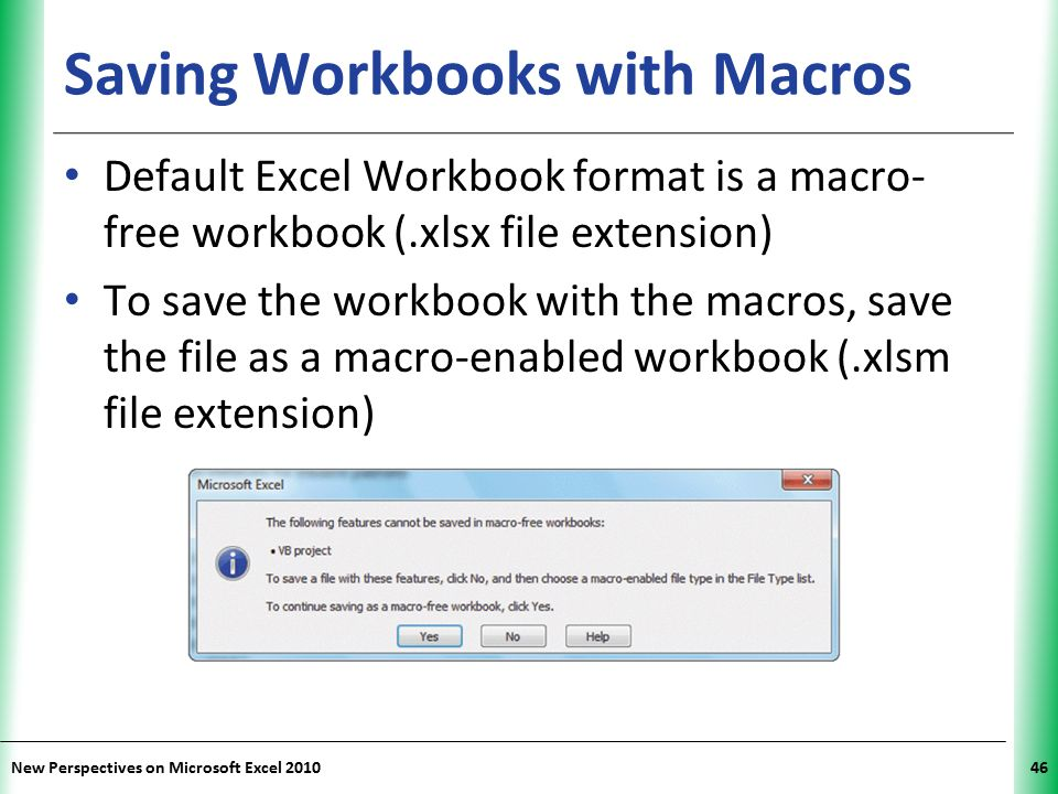 Saving Workbooks with Macros