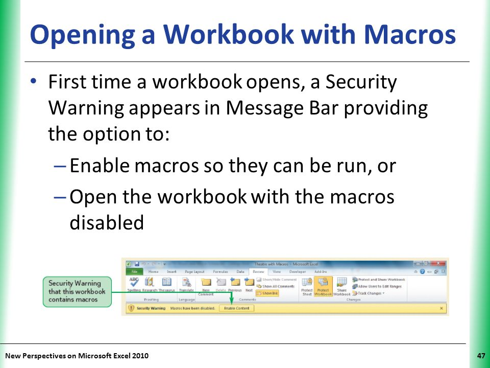 Opening a Workbook with Macros