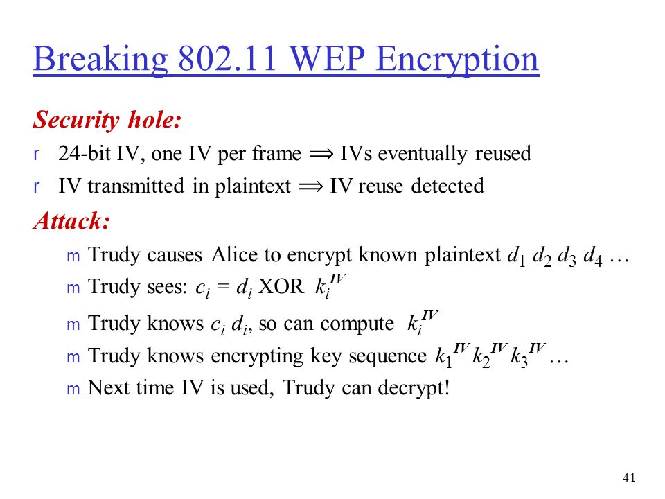 Breaking 802.11 WEP Encryption