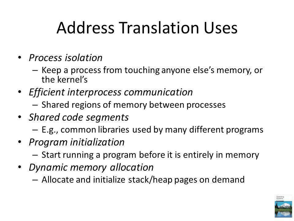 Address Translation Uses