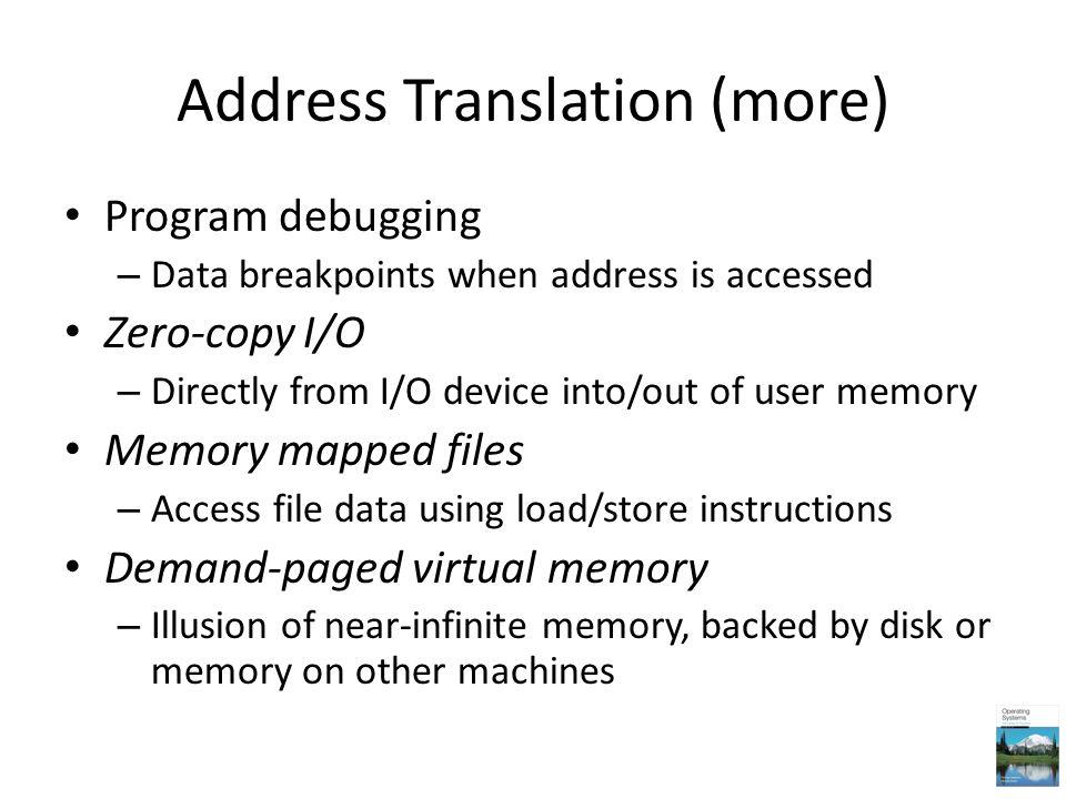 Address Translation (more)