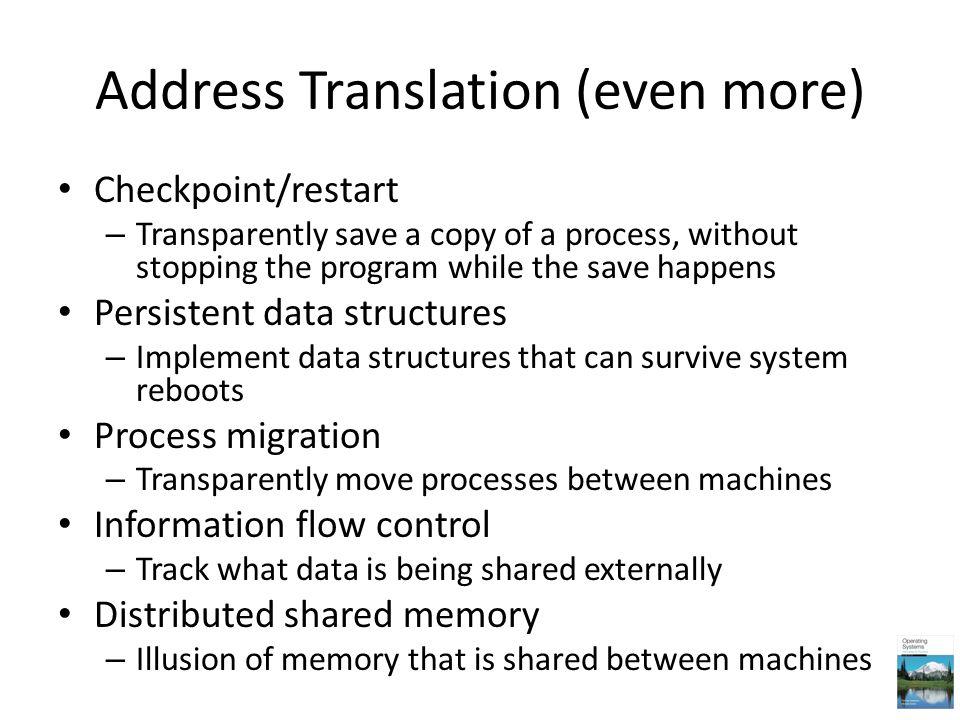 Address Translation (even more)