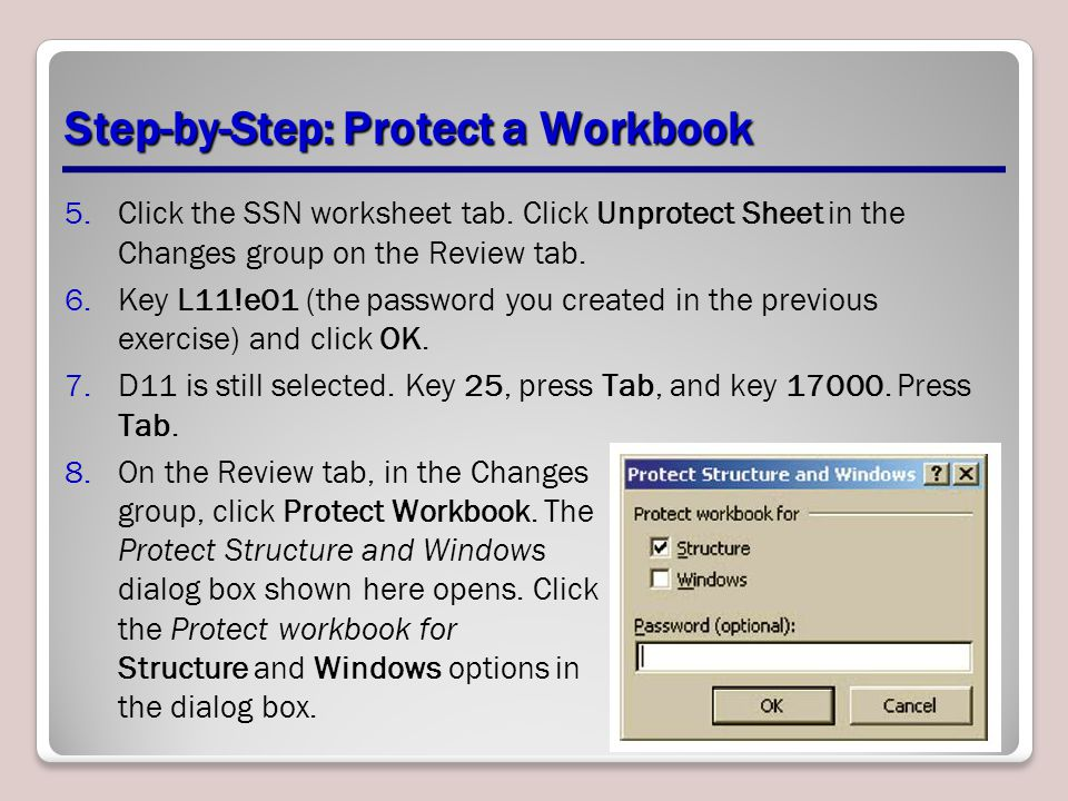 Step-by-Step: Protect a Workbook