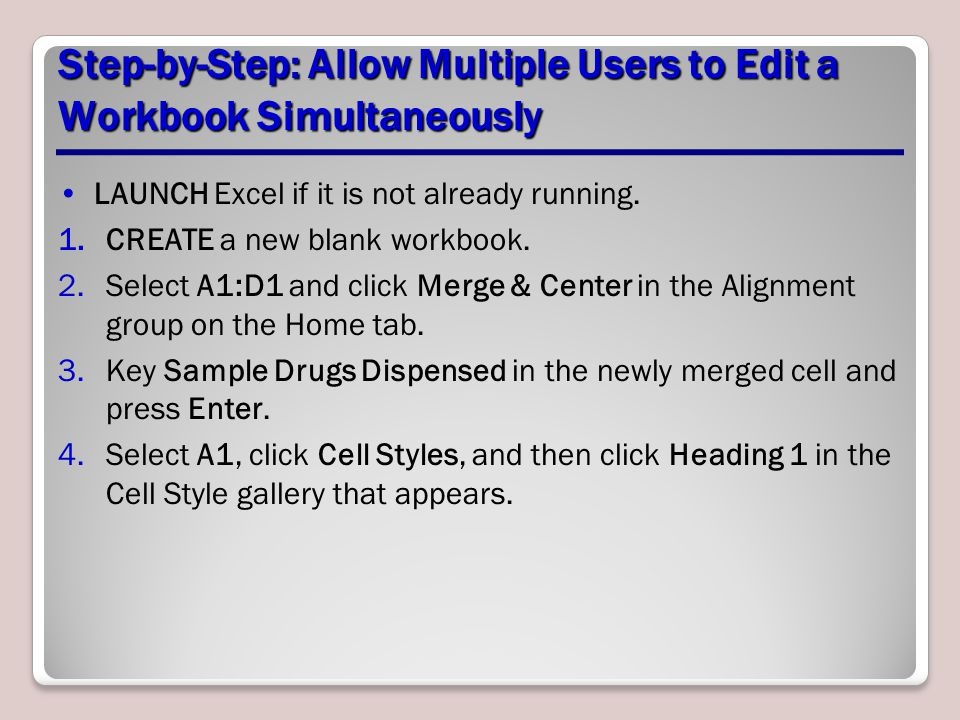 Step-by-Step: Allow Multiple Users to Edit a Workbook Simultaneously