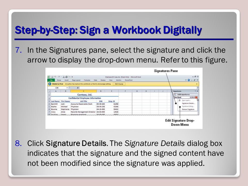 Step-by-Step: Sign a Workbook Digitally