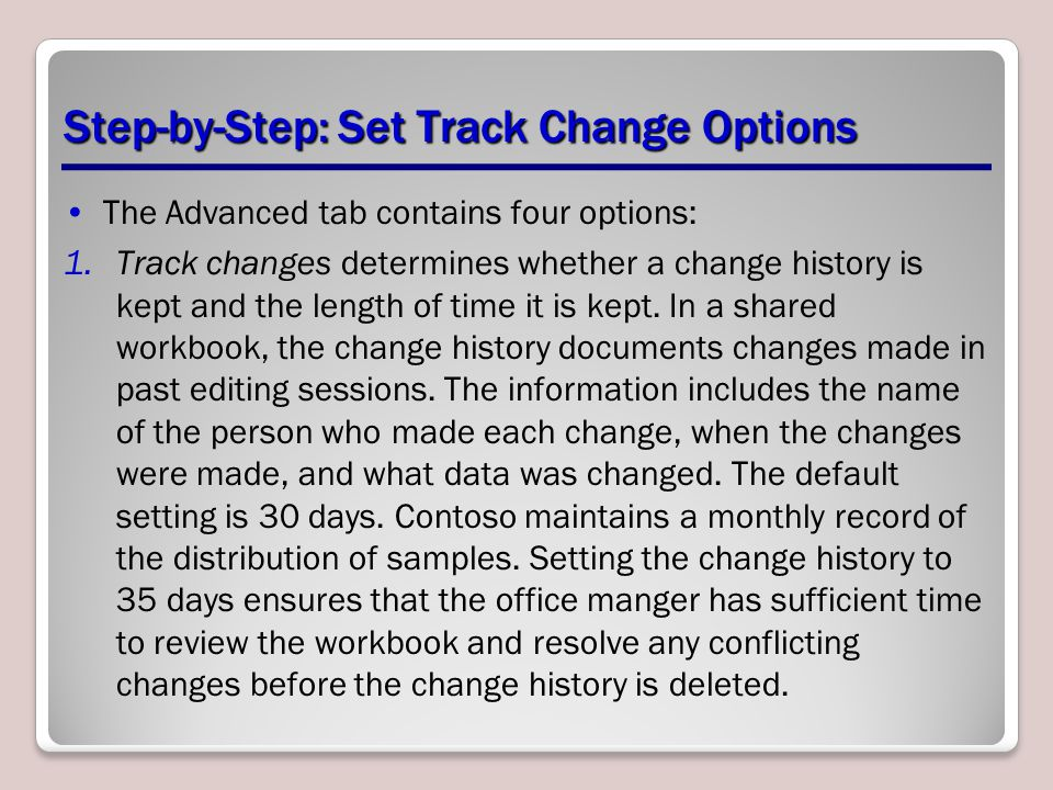 Step-by-Step: Set Track Change Options